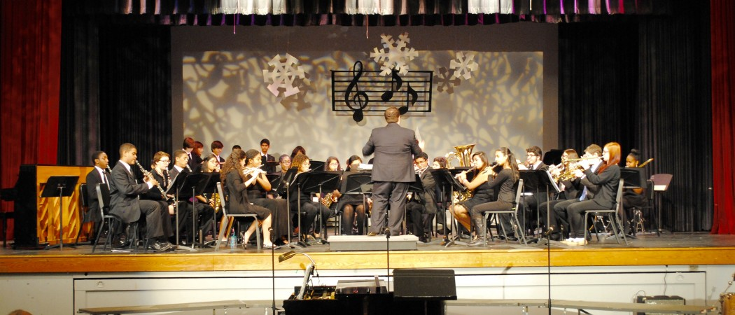 The Stamford High School Concert Band