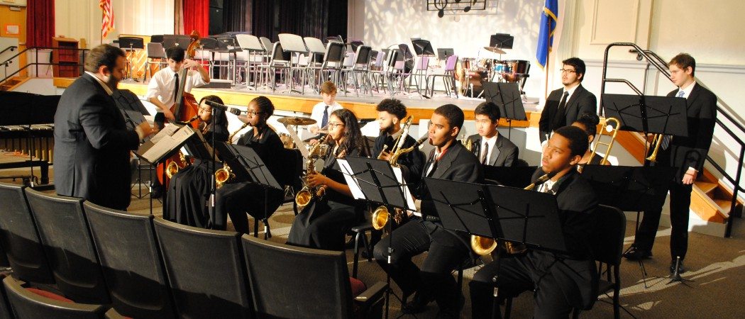 Stamford High Jazz Band performs at the Winter Concert
