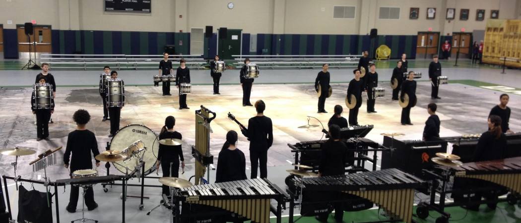 The Black Knights Winter Percussion Ensemble performs at Dartmouth High School